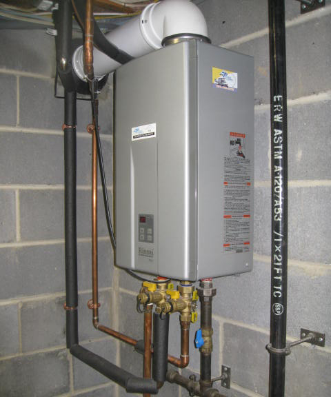 photo of tankless water heater